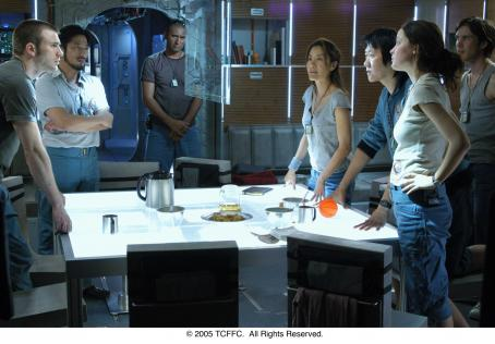 Michelle Yeoh From left: Chris Evans, Hiroyuki Sanada, Cliff Curtis, , Benedict Wong, Rose Byrne and Cillian Murphy in SUNSHINE. Photo Credit: Alex Bailey.