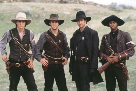 Robert Patrick Usher Raymond, Ashton Kutcher, James Van Der Beek, Dylan McDermott and  in Dimension's Texas Rangers - 2001