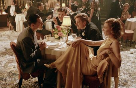 The Aviator Leonardo DiCaprio and Cate Blanchett as Howard Hughes in  - 2004