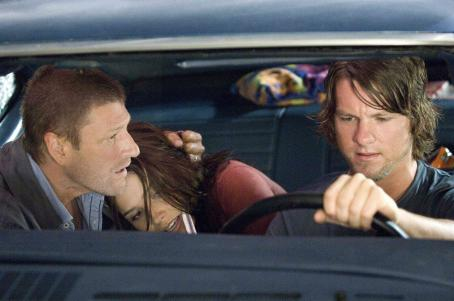 Zachary Knighton Sean Bean (left), Sophia Bush (center) and  (right) star in Rogue Pictures terrifying new thriller THE HITCHER.