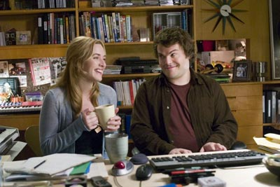 The Holiday Kate Winslet as Iris and Jack Black as Miles in Sony Pictures',  - 2006