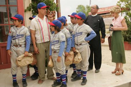 Moises Arias A Scene from The Perfect Game featuring (from left to right) Angel (Jake T. Austin), Cesar (Clifton Collins Jr.), Mario (), Gerando (Mario Quinonez), Enrique (Jansen Panettiere), Reverend Clarence (Louis Gossett Jr.) and Frankie (Emilie de Rav
