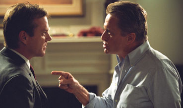 The Sentinel Kiefer Sutherland as David Breckinridge and Michael Douglas as Agent Pete Garrison in 20th Century Fox' crime movie  - 2006