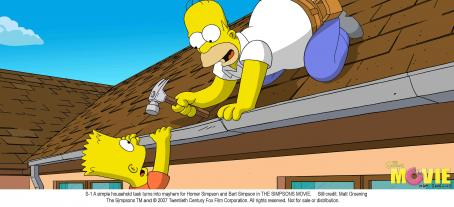 The Simpsons Movie A simple household task turns into mayhem for Homer Simpson and Bart Simpson in THE SIMPSONS MOVIE. Still credit: Matt Groening