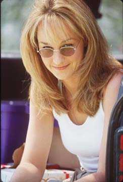 Twister Helen Hunt on the set of .