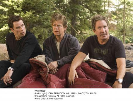 Wild Hogs (left to right) John Travolta, William H. Macy and Tim Allen in . Photo credit: Lorey Sebastian. © Touchstone Pictures. All right reserved.