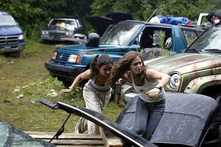 Wrong Turn Emmanuelle Chriqui and Eliza Dushku in 20th Century Fox's  - 2003