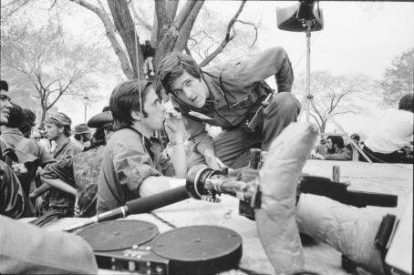 John Kerry  leans to listen to his friend, David Thorne, during the Vietnam Veterans Against the War protests on the Mall. April, 1971 Photo credit: George Butler