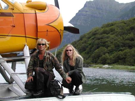 Timothy Treadwell  and Amie Huguenard in Alaska. Photo credit: Willy Fulton