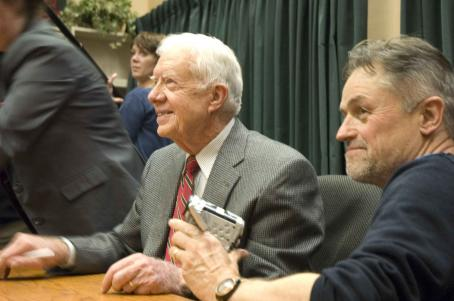 Jimmy Carter Left: President ; Right Director Jonathan Demme. Photo by Alex Cohn © 2007 Real Peace Productions, Inc. courtesy Sony Pictures Classics. All Rights Reserved.