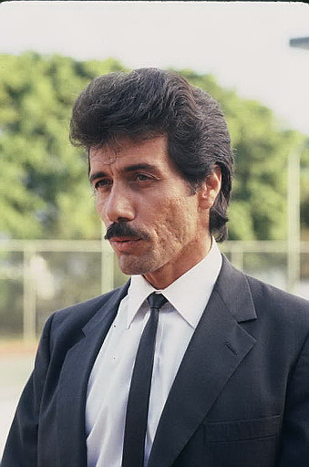 Edward James Olmos  plays Lt. Martin Castillo on Universal' Miami Vice (1984- 1989)