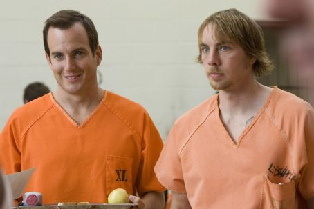 Will Arnett  and Dax Shepard at cafetaria in Universal Pictures' Let's Go to Prison.