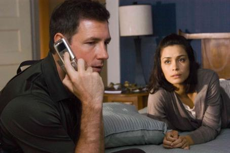 "One Missed Call EDWARD BURNS stars as Detective Jack Andrews and SHANNYN SOSSAMON stars as Beth Raymond in Alcon Entertainment's supernatural thriller "","" distributed by Warner Bros. Pictures. Photo by Guy D'Alema"