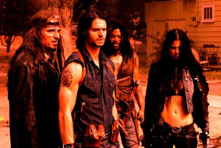 Skinwalkers The SKINWALKERS are Zo (Kim Coates), Varek (Jason Behr) and Grenier (Rogue Johnston) and Sonya (Natassia Malthe). Photo credit: Steve Wilkie.
