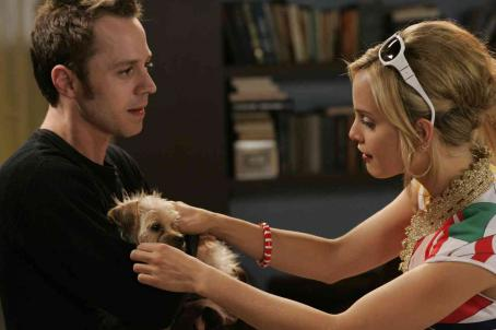 Giovanni Ribisi  as Solo and Mena Suvari as Jules with Jimmy the dog as Spot in THE DOG PROBLEM, written and directed by Scott Caan. Photo credit: Sam Urdank/Thousand Words