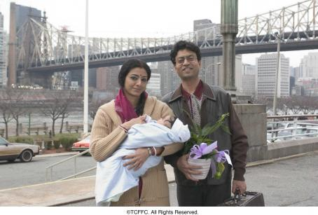 Tabu From left:  and Ifran Khan in THE NAMESAKE. Photo Credit: Abbot Genser.