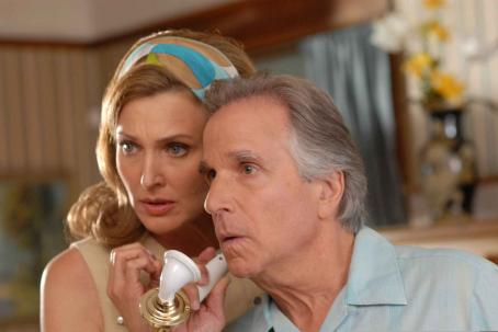 Henry Winkler Brenda Strong as Viv and  as Happy Herb in Caroline Zelder adventure family 'A Plumm Summer.'