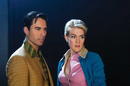Eric McCormack  as Ted Lewis and Jenni Baird as Tammy in ALIEN TRESPASS, directed by R.W. Goodwin. Courtesy of Roadside Attractions