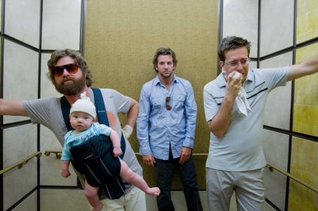 Ed Helms (L-r) ZACH GALIFIANAKIS as Alan, ED HELMS as Stu and BRADLEY COOPER as Phil in Warner Bros. Pictures' and Legendary Pictures' comedy 'The Hangover,' a Warner Bros. Pictures release. Photo courtesy of Warner Bros. Pictures