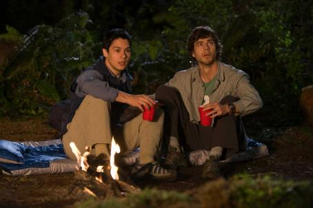 Oliver James Ben () and Zach (Kristopher Turner) in comedy adventure 'Without a Paddle: Nature's Calling.'