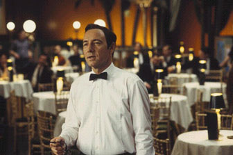 Kevin Spacey  as Bobby Darin in Beyond the Sea, also starring John Goodman and Kate Bosworth.