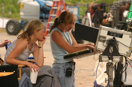 Come Early Morning Director Joey Lauren Adams behind the set of  - 2006