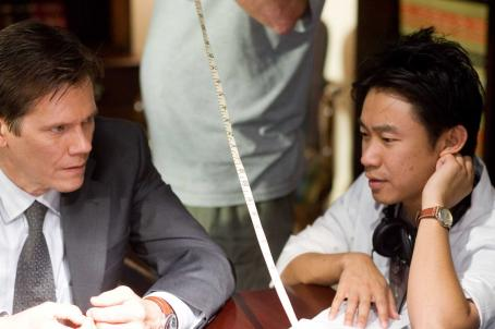 Death Sentence Kevin Bacon and James Wan on the set of DEATH SENTENCE. TM & © 2006 Twentieth Century Fox - All Rights Reserved - Not for sale or duplication.