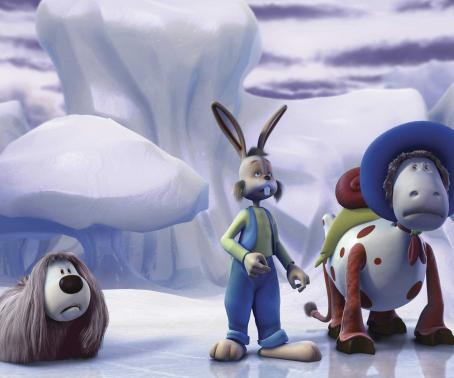 Doogal  (voiced by Daniel Tay), Dylan (voiced by Jimmy Fallon) and Ermintrude (voiced by Whoopi Goldberg) in The Weinstein Company's