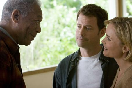 Feast of Love (L to R) MORGAN FREEMAN stars as Harry Stevenson, GREG KINNEAR stars as Bradley Smith and RADHA MITCHELL stars as Diana in the romantic comedy FEAST OF LOVE, directed by Robert Benton, distributed by Metro-Goldwyn-Mayer Distribution Co., A Division of Met