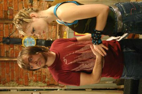 Aaron Stanford  as Neal Downs and Izabella Miko as Strawberry in FLAKES directed by Michael Lehmann. Photo credit: Jake Abraham. An IFC First Take release.
