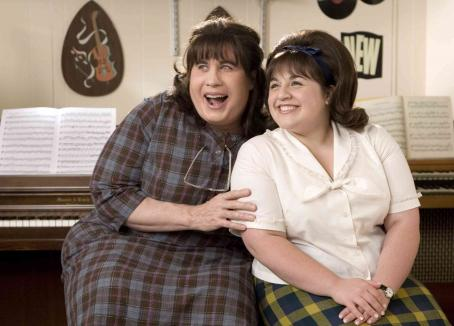 "Nikki Blonsky John Travolta (left) stars as ""Edna Turnblad"" and  (right) stars as ""Tracy Turnblad"" in New Line Cinema's upcoming release of Adam Shankman's HAIRSPRAY. Photo Credit: ©2007 David James/New Line Cinema"