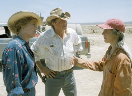 Holes Stanley (LaBeouf, right) is under the watchful eyes of The Warden (Sigourney Weaver, left) and her right-hand man, Mr. Sir (Jon Voight, center).