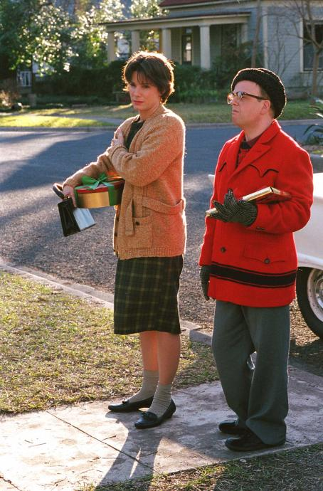 Toby Jones Sandra Bullock as Nelle Harper Lee and  as Truman Capote in director Douglas McGrath's Infamous, a Warner Independent Pictures release. Photo Credit: Van Redin © 2005 Warner Bros. Entertainment Inc.