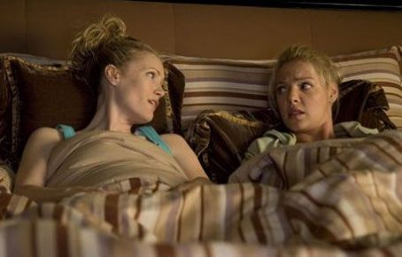 Knocked Up Leslie Mann as Debbie and Katherine Heigl as Alison Scott in Universal Pictures'  - 2007