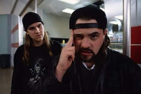 Kevin Smith Jason Mewes as Jay and  as Bob Silent in Gramercy Pictures' 2005 comedy Mallrats