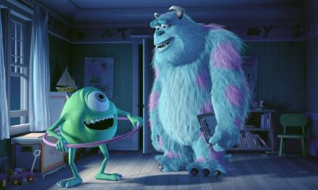 Monsters, Inc. Mike Wazowski (Billy Crystal) and Sullivan (John Goodman) in Disney's  - 2001