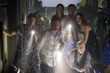 Mike Vogel (L-r)  as Christian, Kurt Russell as Robert Ramsey, Emmy Rossum as Jennifer Ramsey, Josh Lucas as Dylan Johns, Jacinda Barretas Maggie James, Jimmy Bennett as Conor James and Richard Dreyfuss as Richard Nelson in Warner Bros. Pictures' and