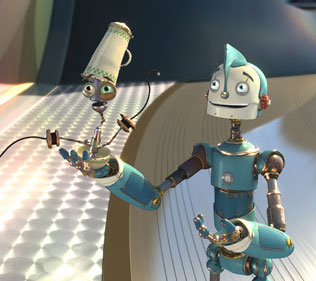 Robots Rodney Copperbottom (voiced by Ewan McGregor) in Chris Wedge and Carlos Saldanha's  distibuted by Twentieth Century Fox - 2005.