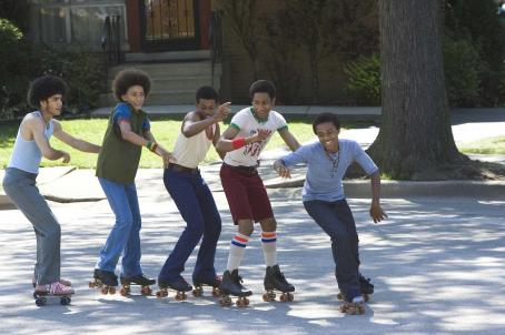 Brandon T. Jackson Rick Gonzalez, Khleo Thomas, Marcus T. Paulk,  and Bow Wow in Fox Searchlight's drama Roll Bounce.