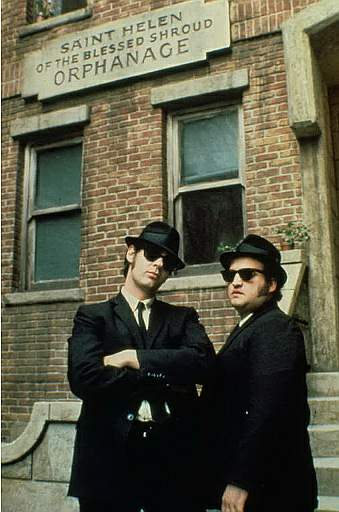John Belushi a scene from Universal' comedy, The Blues Brothers, starring Dan Aykroyd and .