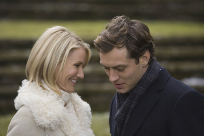 The Holiday Cameron Diaz as Amanda and Jude Law as Graham in director Nancy Meyers movie,  - 2006