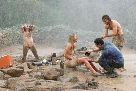 "Laura Ramsey (Left to right) Amy (Jena Malone), Stacy (), Jeff (Jonathan Tucker) and Eric (Shawn Ashmore) find something deadly amid the ruins at an archeological site in ""The Ruins."" Photo Credit: Vince Valitutti. © 2007 DreamWorks LLC. All Ri"