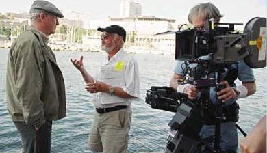 The Statement Michael Caine and director Norman Jewison on the set of  - 2003