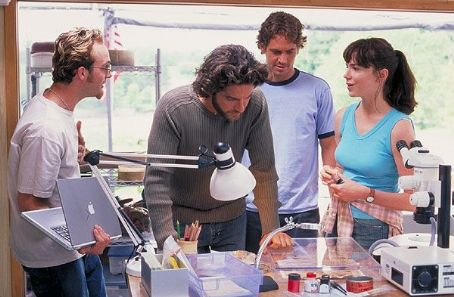 Frances O'Connor Gerard Butler, Frances O'Connor and Paul Walker in Timeline - 2003
