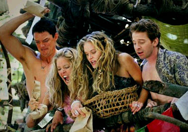 Matthew Lillard , Christina Moore, Rachel Blanchard and Seth Green in Without a Paddle - 2004