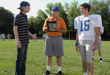 Steven R. McQueen Virgil and Derek at football tryouts freshman year - the day of the incident.