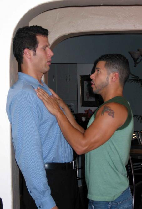 Coffee Date Jonathan Bray as Todd with Wilson Cruz as Kelly in Film and Music Entertainment and TLA Releasing '.'