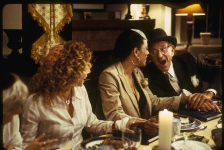 (left to right) Meredith Scott Lynn as Jennifer Stuckman, Cynda Williams as Grace and Jack Klugman as Artur Stuckman in THINKFilm comedy movie When Do We Eat