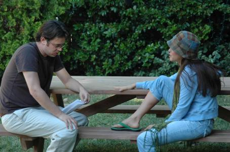 Colin Hanks  as Doug and Ana Claudia Talancón as Amy in ALONE WITH HER directed by Eric Nicholas. Photo credit: Buzz Harris, Rachel Engelman. An IFC First Take release.