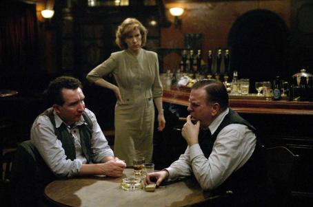 "Juliet Stevenson From Left to Right: Eddie Marsan (""James 'Tish' Corbitt""),  (""Annie Pierrepoint"") and Timothy Spall (""Albert Pierrepoint"") in a scene from PIERREPOINT directed by Adrian Shergold. An IFC Film"